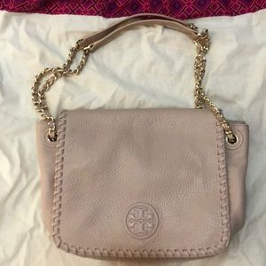 Tory Burch Marion light pink purse